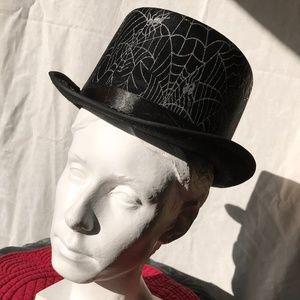 EUC Festive Black & Silver Spiderweb Hat